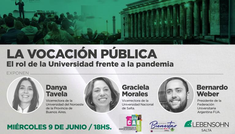 La vocación pública. El rol de la universidad frente a la pandemia