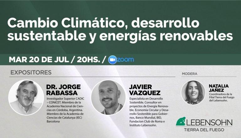 Cambio climático, desarrollo sustentable y energías renovables