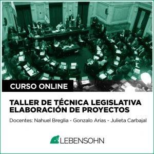 Taller de técnica legislativa y elaboración de proyectos